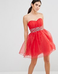 Laced In Love Prom Dress Red