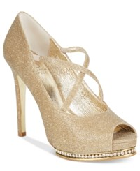 Adrianna Papell Golda Rhinestone Platform Pumps Women's Shoes