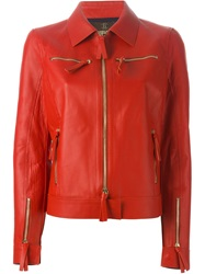 Roberto Cavalli Zipped Jacket Red