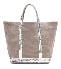 Vanessa Bruno Cabas Medium Linen Shopper Brown