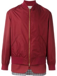 Casely Hayford Double Effect Inset Bomber Jacket Red