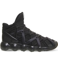 Adidas Y3 Kyujo High Top Neoprene Trainers Black Mono