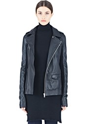 Rick Owens Stooges Long Leather Jacket Black