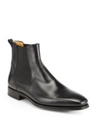 Saks Fifth Avenue By Magnanni Leather Chelsea Boots Black