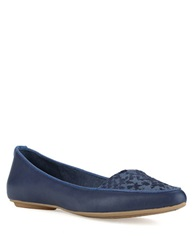 Elliott Lucca Bridget Leather Flats Blue Exotic