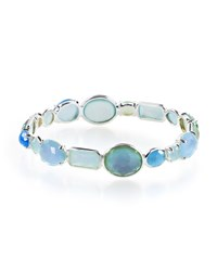 Ippolita Rock Candy Mixed Stone Bangle In Blue Star Size 2 Silver