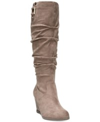 Dr. Scholl's Poe Tall Boots Women's Shoes Stucco Suede
