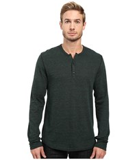 Alternative Apparel Eco Vertigrain Union Henley Vertigrain Fir Green Men's Long Sleeve Pullover