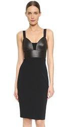 Narciso Rodriguez Bustier Fitted Dress Black