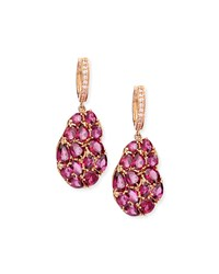 Wavy Rhodolite Drop Earrings Rina Limor Pink