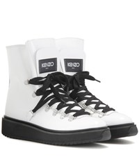 Kenzo Patent Leather Boots White