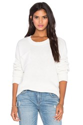 One Teaspoon Classic Cotton Wool Blend Knit White