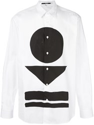Mcq By Alexander Mcqueen Warrior Markings Print Shirt White