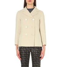 Max Mara Dionea Wool And Angora Blend Coat Ivory