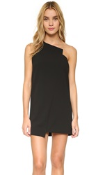Mason By Michelle Mason One Shoulder Shift Dress Black