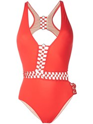 Moeva 'Vanessa' Swimsuit Red