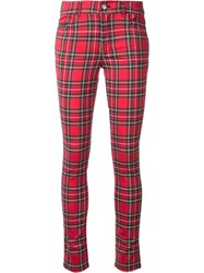 Guild Prime Checked Skinny Trousers Red