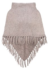 S.Oliver Snood Cape Grey Pink Taupe