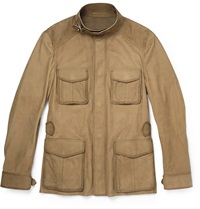 Berluti Suede Field Jacket Brown