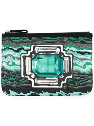 Pierre Hardy 'Gem Pouch' Clutch Green