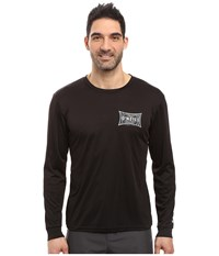 O'neill Mainsail Long Sleeve Performance Screen Tee Imprint Black Men's T Shirt