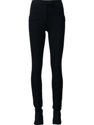 Barbara Bui Pleated Skinny Trousers Black