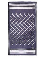 Gant Rope Print Cotton Scarf Navy