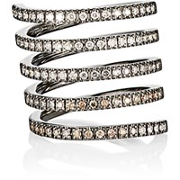 Roberto Marroni Women's Mixed Diamond Spiral Ring Gold No Color Gold No Color