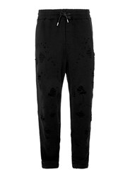 Topman Black Ripped Jersey Joggers
