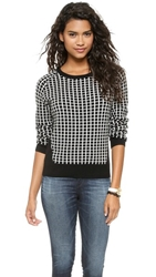 Top Secret Bromley Sweater Black White