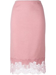 Ermanno Scervino Lace Hem Skirt Pink And Purple