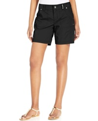 Style And Co. Petite Studded Detail Short Shorts Deep Black