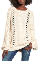 For Love And Lemons Women's Wythe Cable Knit Sweater