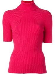 3.1 Phillip Lim Roll Neck Knit Top Pink Purple