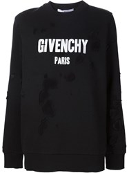 Givenchy Distressed Sweatshirt Black
