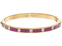 Kate Spade Set In Stone Enamel Stone Hinged Bangle Clear Purple