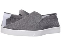 Calvin Klein Ives Grey Heathered Knit Men's Slip On Shoes Gray