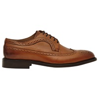 Reiss Ash Leather Brogues Tan