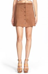 Women's Wayf Faux Suede Skirt Brown