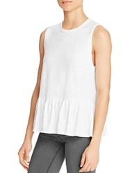 Aqua X Maddie And Tae Knit Flounce Tank 100 Bloomingdale's Exclusive White