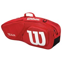 Wilson Team Collection 3 Pack Tennis Bag Red White