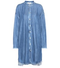 Acne Studios Gracie Denim Shirt Dress Blue