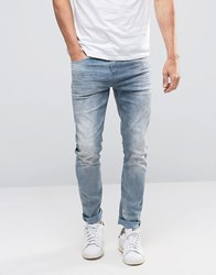 Scotch And Soda Bleached Skinny Fit Jeans Blue