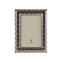 L'objet Chevron Frame Platinum And Grey 4X6