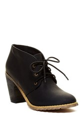 Restricted Petal Lace Up Bootie Black