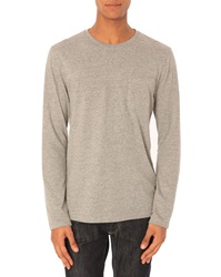 Menlook Label Luc Flecked Grey T Shirt