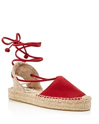 Soludos Platform Gladiator Espadrille Sandals Chili Red