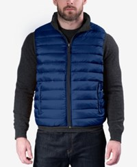 Hawke And Co. Outfitter Outfitters Men's Big Tall Reversible Puffer Vest True Blue Carbon