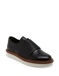 Dolce Vita Saxon Leather Laceless Oxfords Black