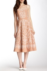 Champagne And Strawberry Embroidered Sweetheart Dress Pink